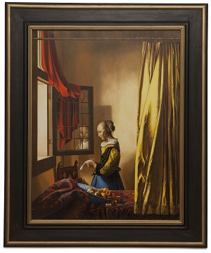 A girl reading a letter by an open window - Lettura della lettera - cm 85x65