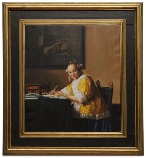 A lady writing - Donna che scrive una lettera - cm 46x41