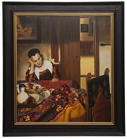 A maid asleep - Fanciulla che dorme - cm 90x80