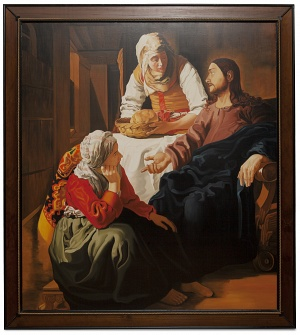 Christ in the house of Martha and Mary - Cristo con Marta e Maria - cm 156x142