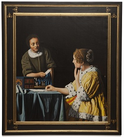 Mistress and maid - Padrona con domestica - cm 90x79