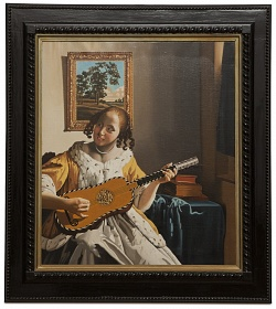 The guitar player - La suonatrice di chitarra - cm 54x47