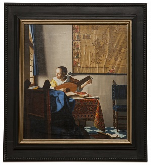 Woman with a lute - Suonatrice di liuto - cm 53x47