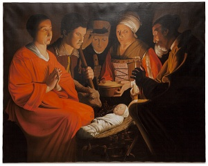 Adoration of the shepherds - L'adorazione dei pastori - cm 140x110