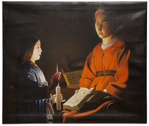 The education of the virgin - L'educazione della vergine cm 100x85