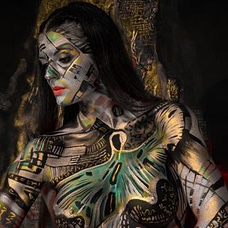 Body Painting - Guido Daniele alla Fondazione Luciana Matalon