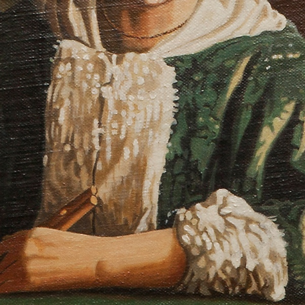 Girl with a flute - Fanciulla col flauto - cm 21x19