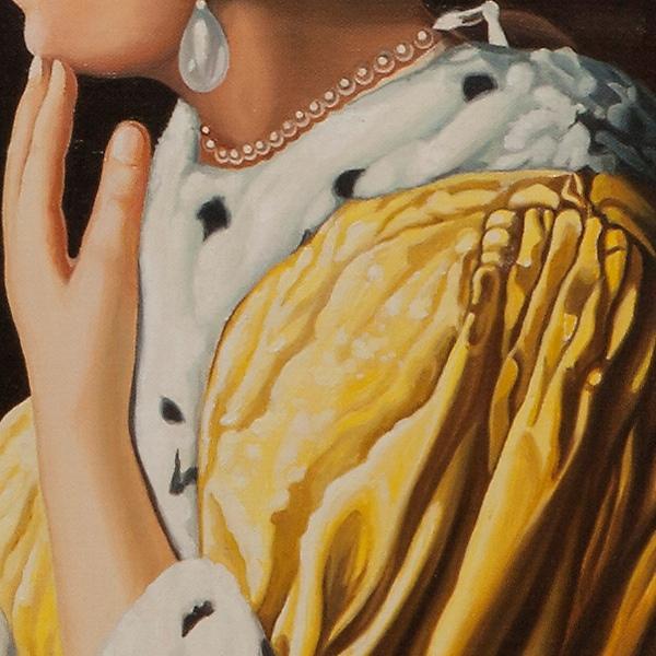 Mistress and maid - Padrona con domestica - cm 90x79