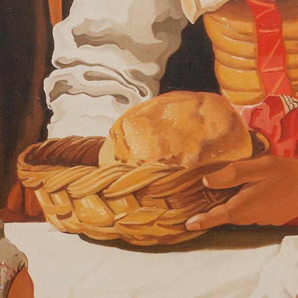 Christ in the house of Martha and Mary - Cristo con Marta e Maria - cm 156x142