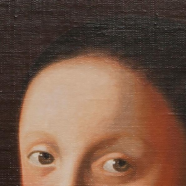 Study of young woman - Testa di fanciulla - cm 45x40
