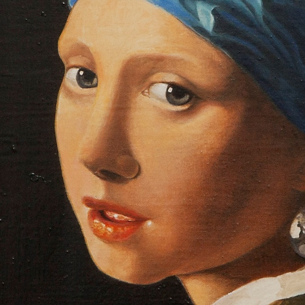 The girl with the pearl earring - La ragazza con l'orecchino di perla - cm 47x41