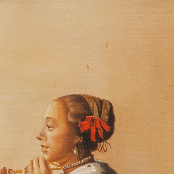 Woman with a pearl necklace - La collana di perle - cm 55x45