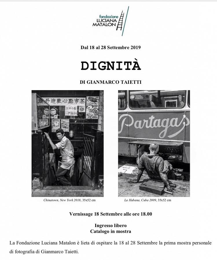 Dignità - Mostra personale di Gianmarco Taietti