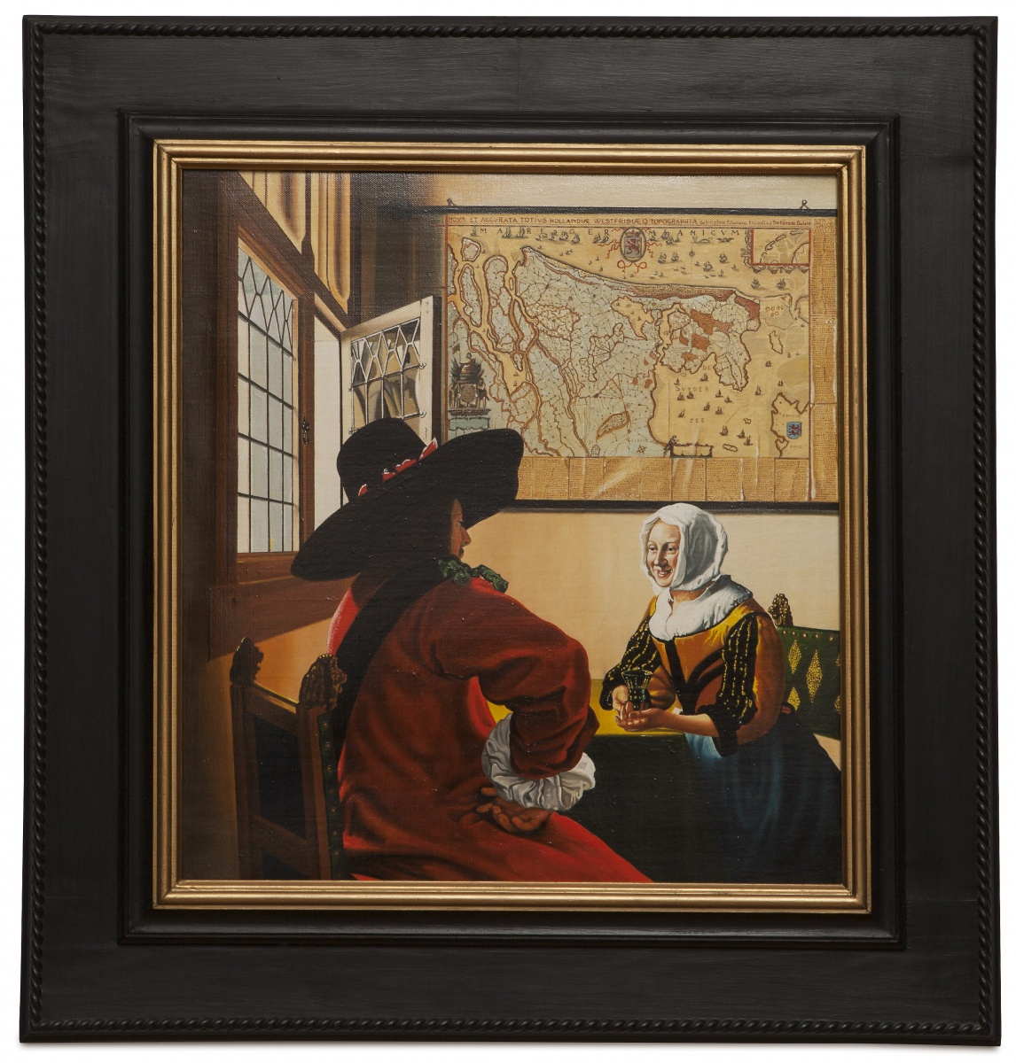 Officer and laughing girl - Il soldato e la fanciulla ridente - cm 48x43