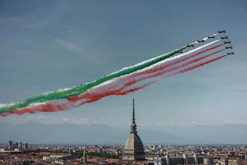 Le frecce su Torino